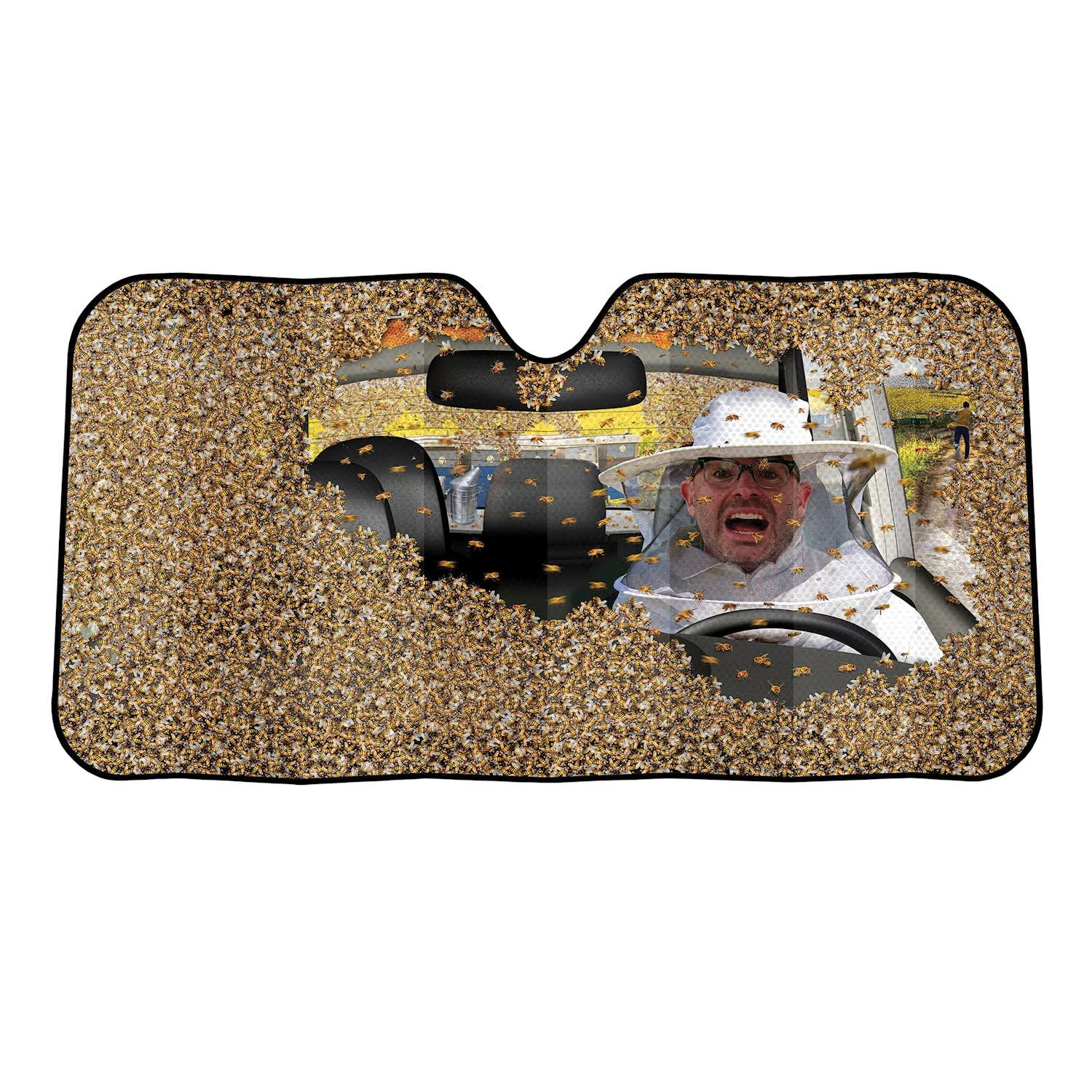 Archie McPhee Auto Sunshade, Car Full of Bees