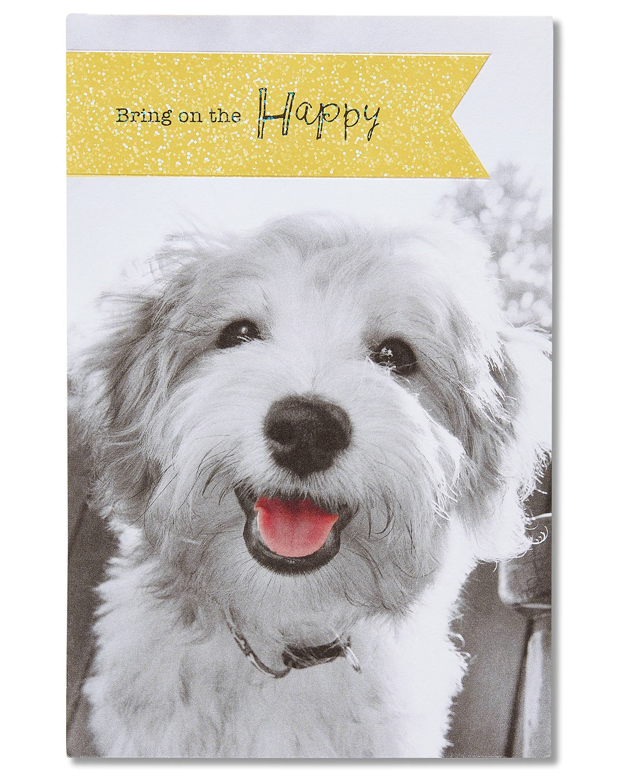 American Greetings Puppy Birthday Card with Foil