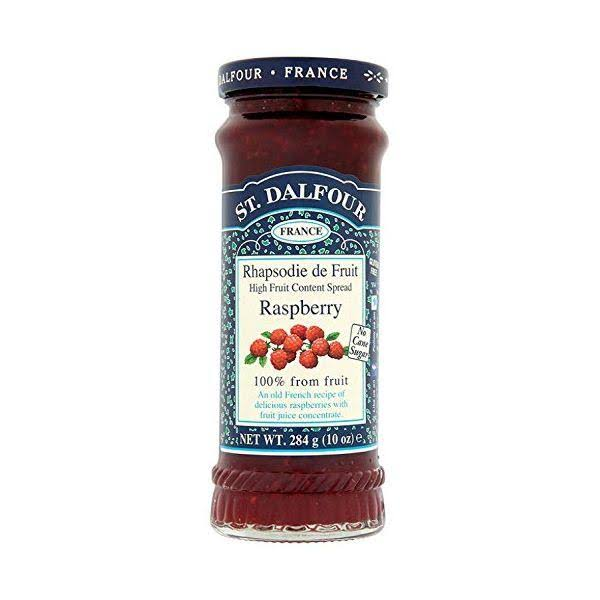 St Dalfour Raspberry High Fruit Content Spread - 284g