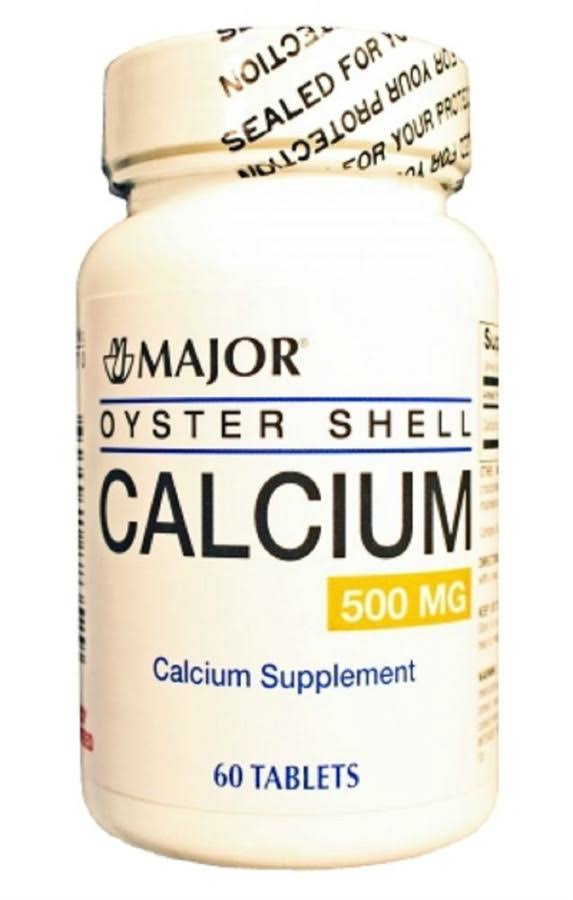 Major Oyster Shell Calcium Supplement - 500mg, 60ct
