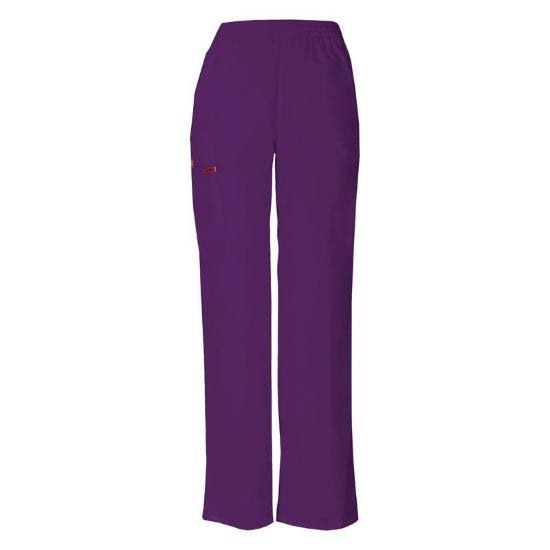 Dickies EDS Signature Women's Missy Fit Pull-On Scrub Pant - Eggplant (L)