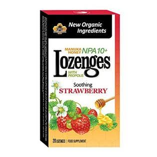 Pacific Resources Strawberry Manuka Honey and Propolis Lozenges - 20ct