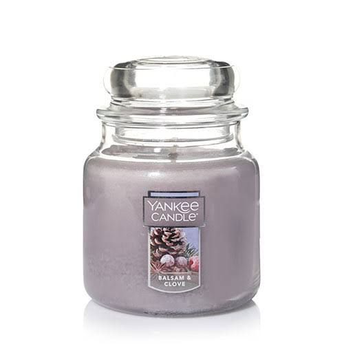 Yankee Candle Balsam and Clove Medium Jar Candle