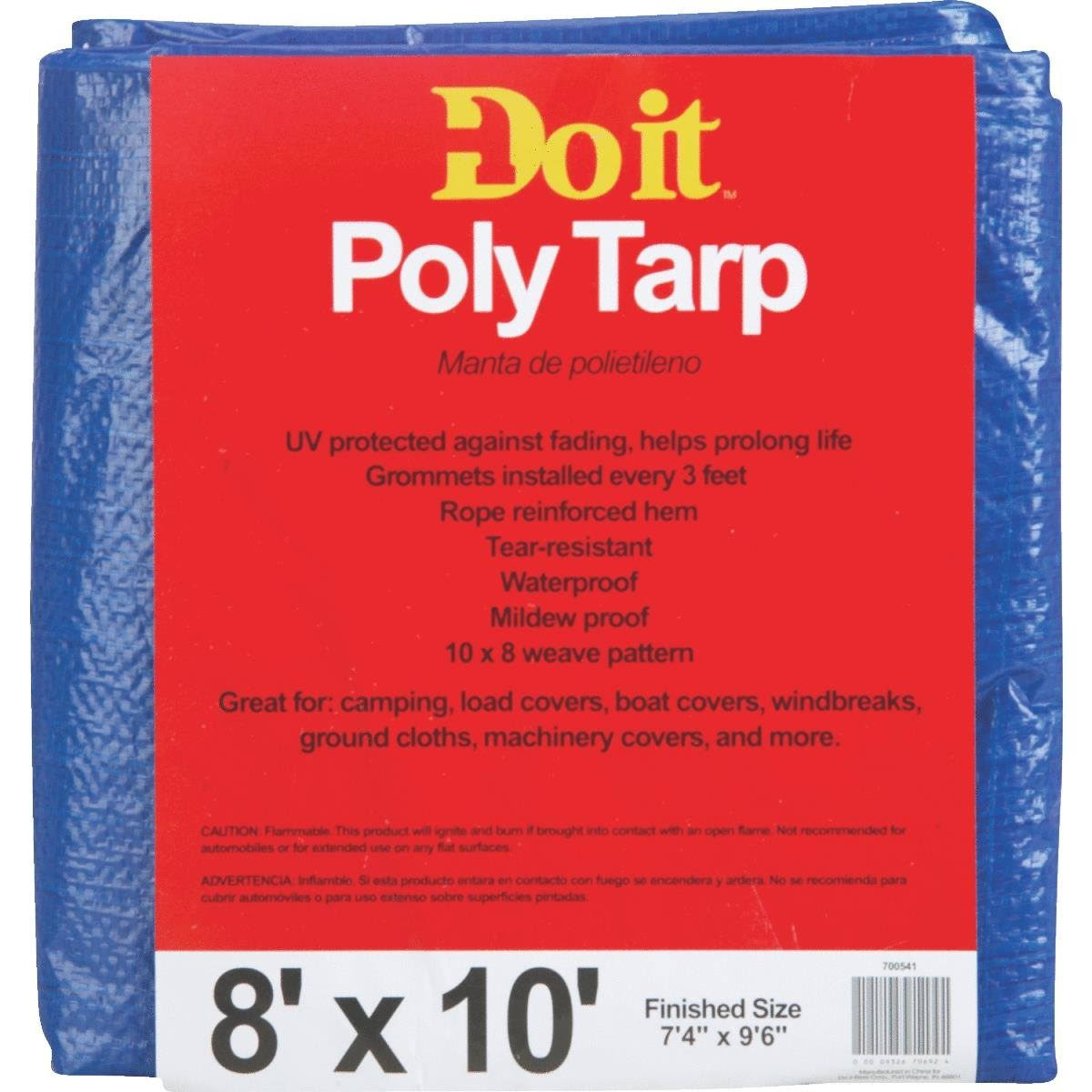 Do It Best Poly Tarp - Blue, 8'x10'