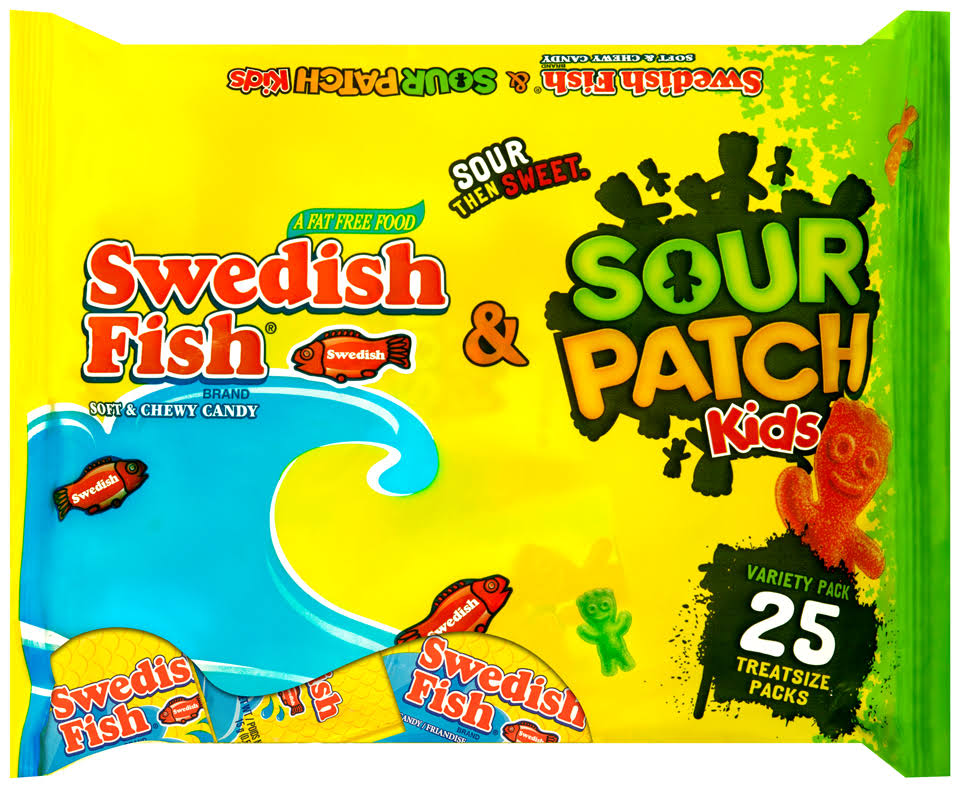 Swedish Fish and Sour Patch Kids Halloween Candy - 13.2oz, 25ct