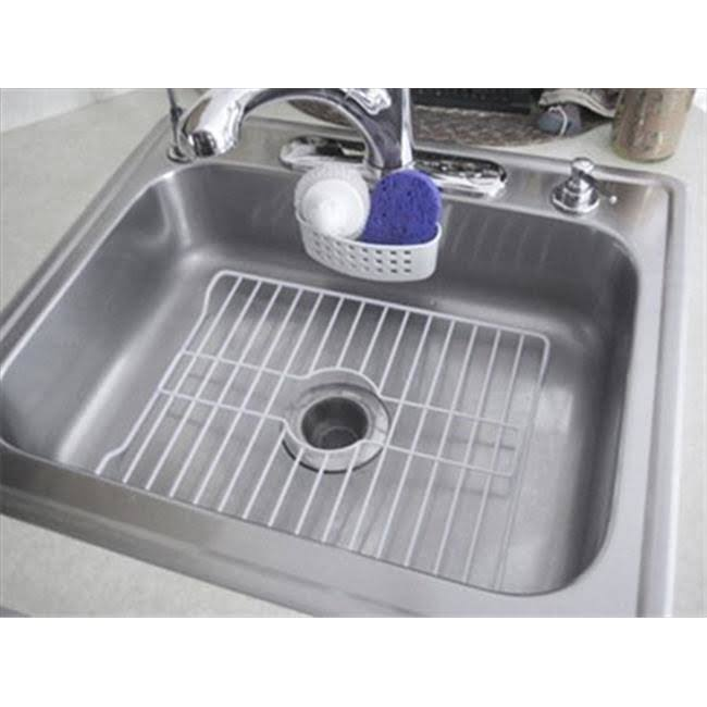 Home BasicsMedium Vinyl Coated Steel Sink Protector White