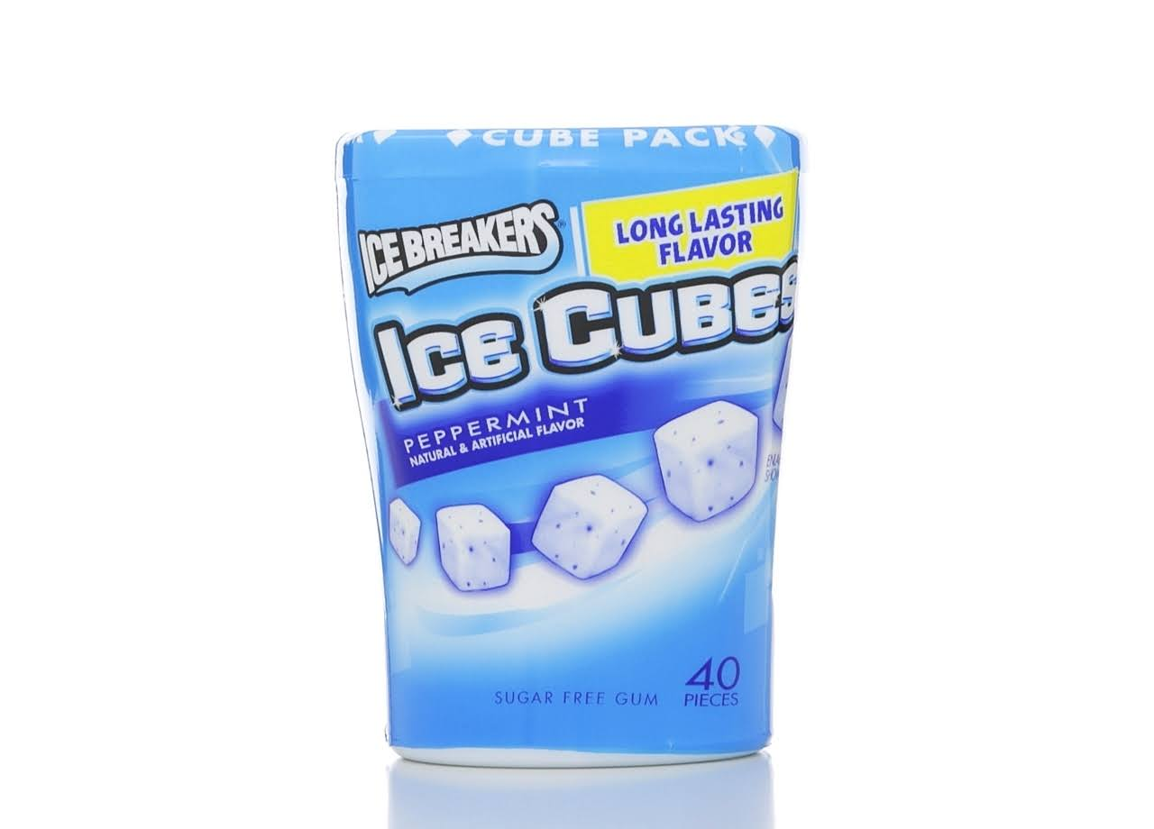 Ice Breakers Ice Cubes Sugar Peppermint Gum - 40 Count