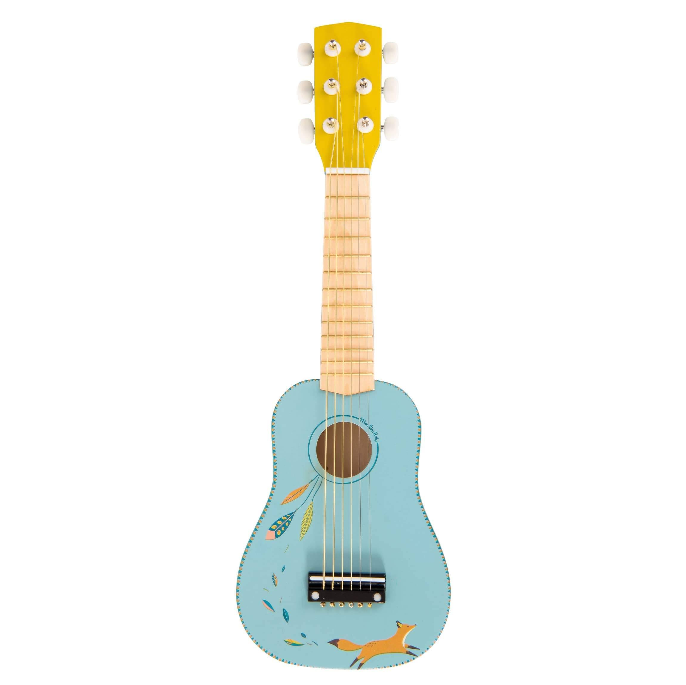 Moulin Roty Le voyage d'Olga Guitar - Wood, Blue