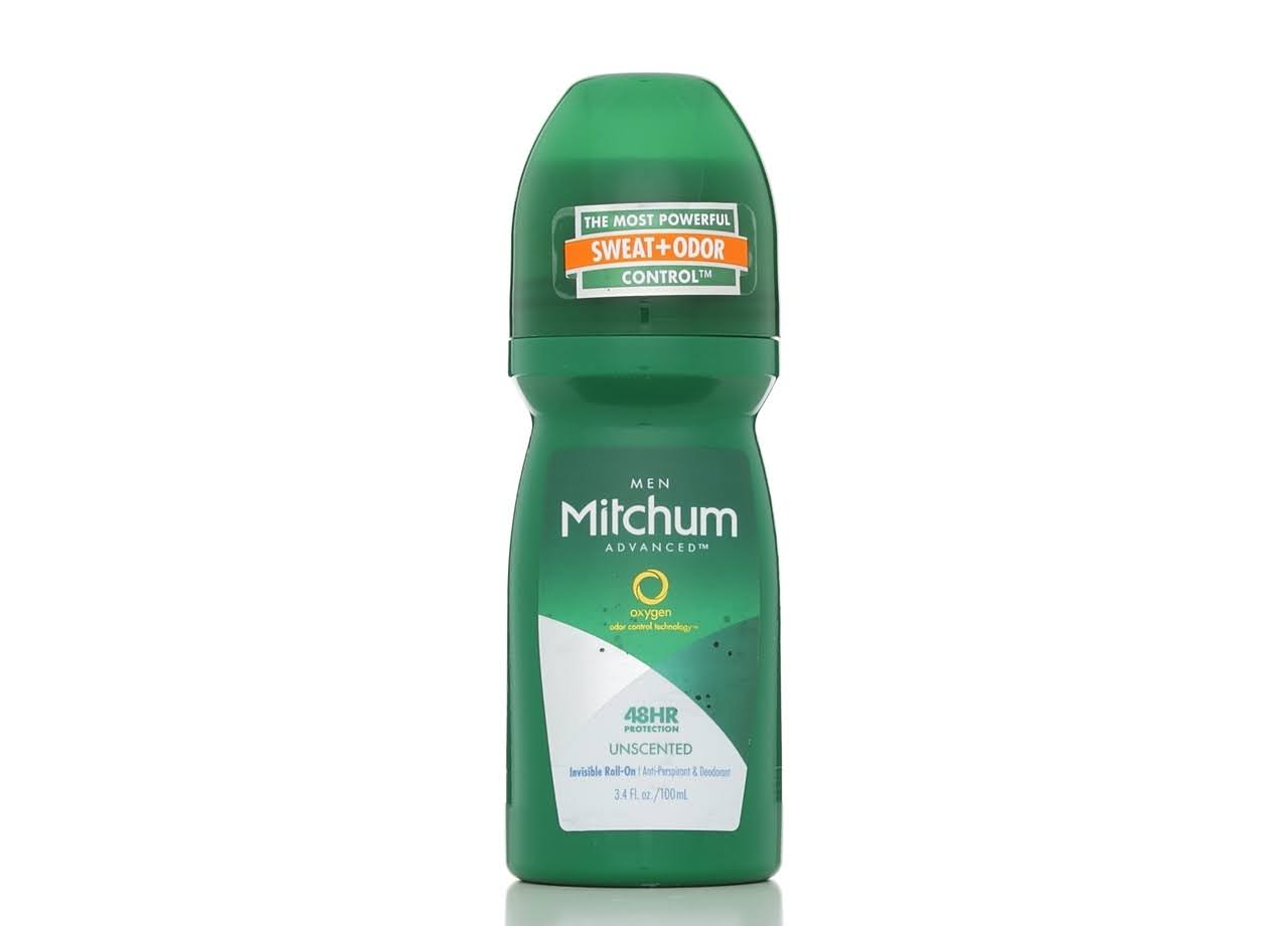 Mitchum Men's Roll On Antiperspirant Deodorant - Unscented, 3.4oz