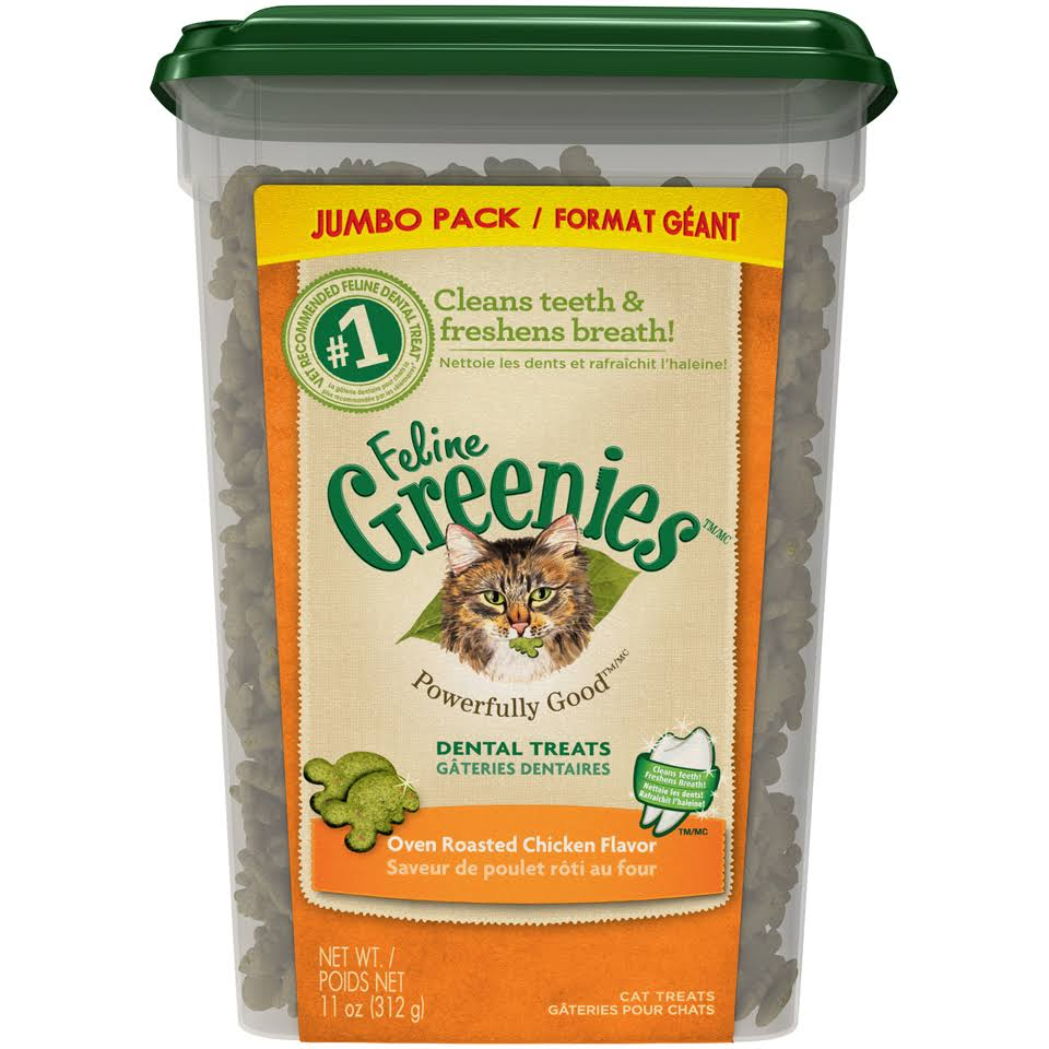 Feline Greenies Oven Roasted Chicken Flavor Dental Treats - 11oz