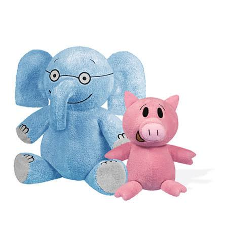 Elephant and Piggie Plush Toy Set