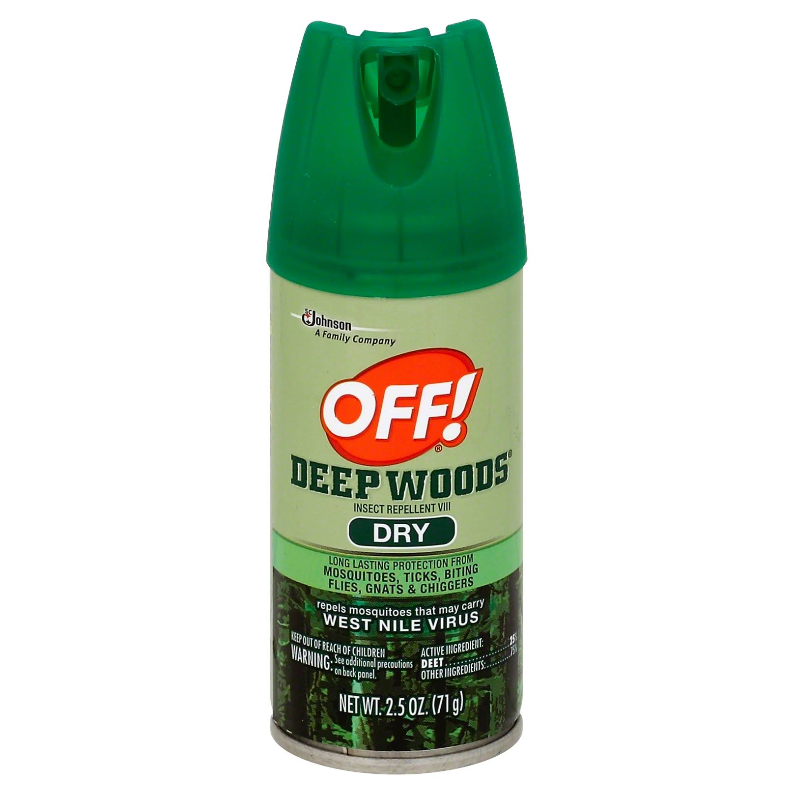 SC Johnson Off! Deep Woods Dry Insect Repellent - 2.5oz