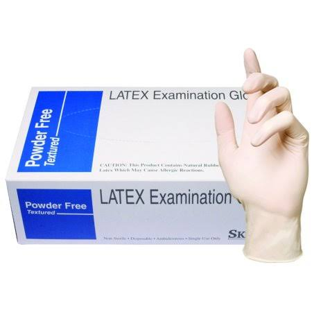 Skintx Medical Grade Latex Disposable Gloves, Beige - Pack of 90