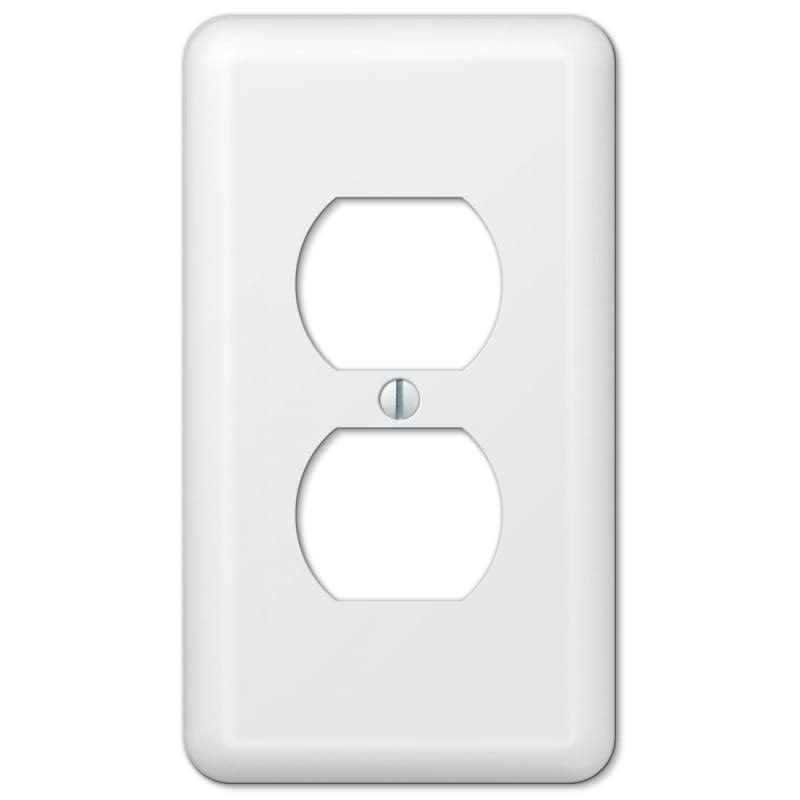 American Tack and Hardware Outlet Wall Plate - Duplex, White