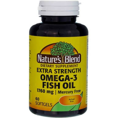 Nature's Blend Fish Oil Omega 3 Extra Strength Dietary Supplement - 60ct