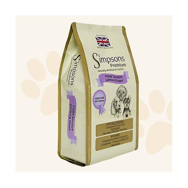 Simpsons Premium Puppy Sensitive Junior Dog Food - Salmon and Potato , 2kg