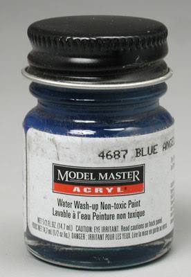 Testor Model Master Acrylic Paint - 4687 Blue Angel, 1/2oz