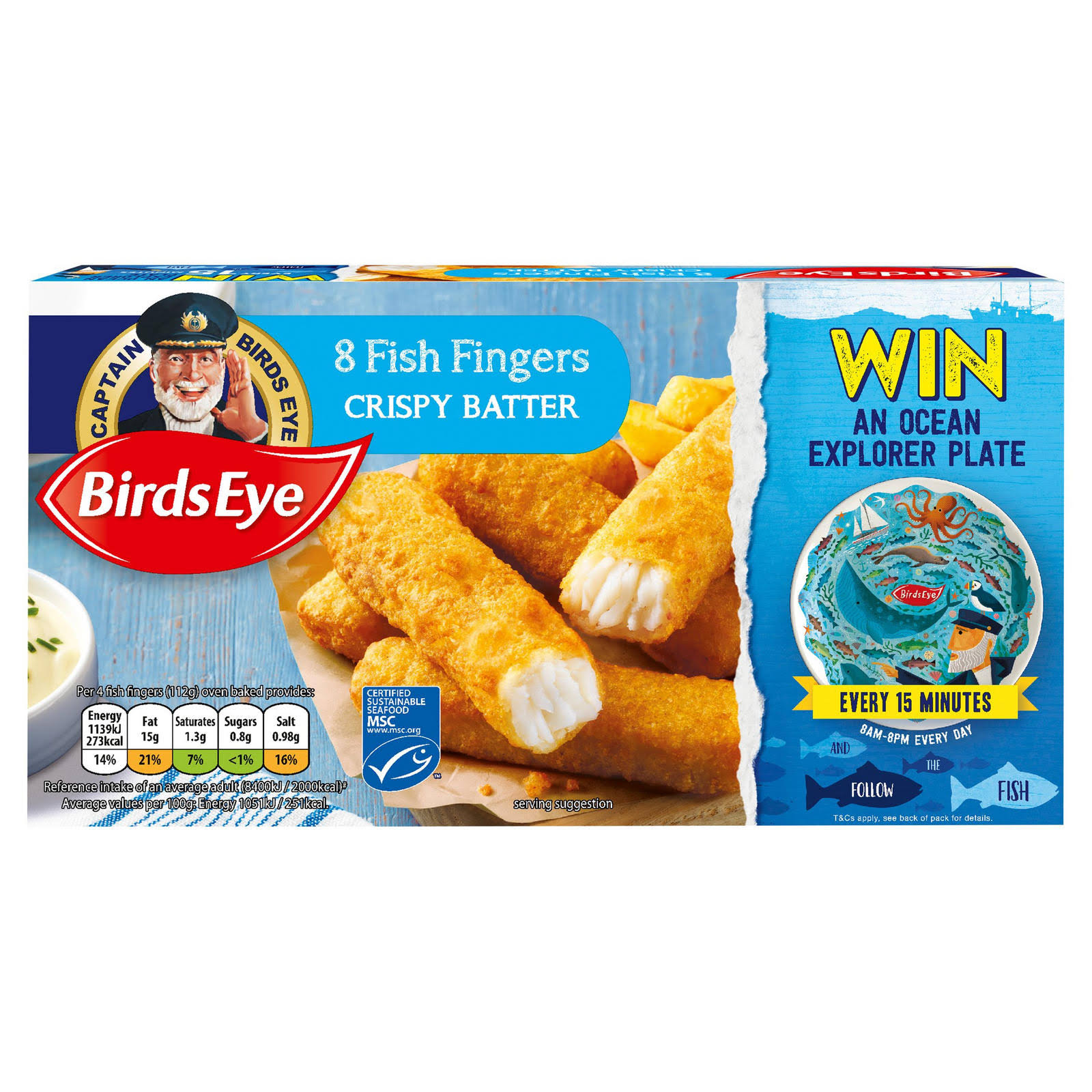 Birds Eye Crispy Batter Fish Fingers - 224g