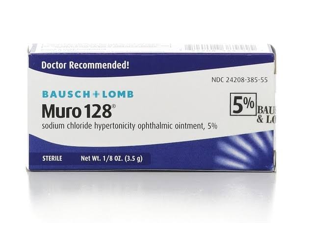 Bausch & Lomb Muro 128 Sodium Chloride Hypertonicity Opthalmic Ointment