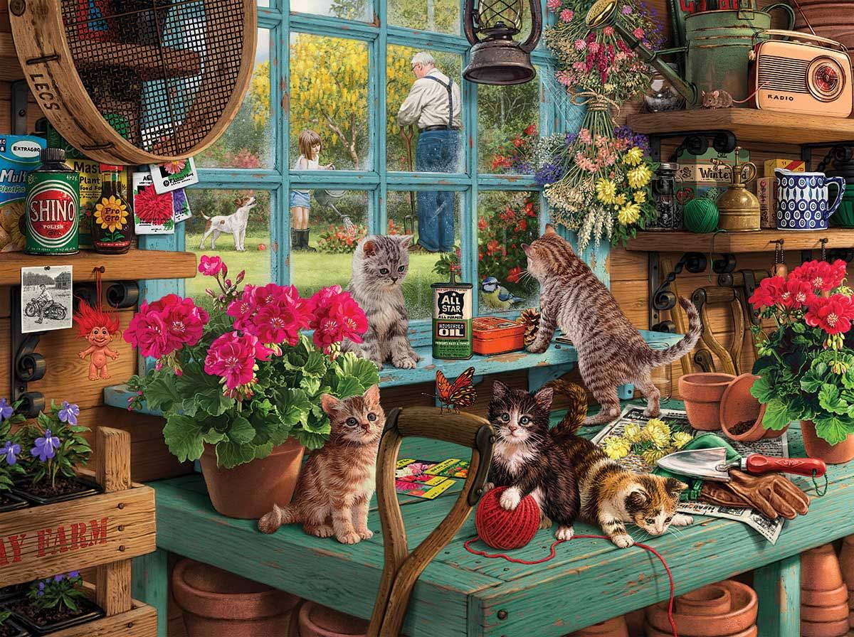 White Mountain Curious Kittens Jigsaw Puzzle - 1000pcs