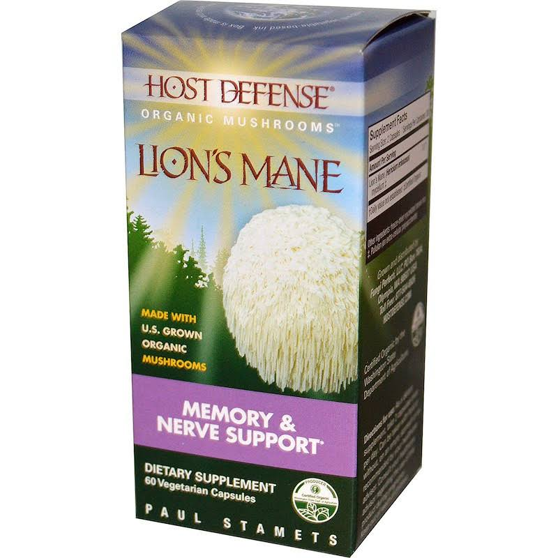 Host Defense Lion's Mane Memory & Nerve Support Dietary Supplement - 60 Capsules