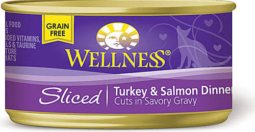 Wellness Dinner Canned Cat Food - Sliced Turkey Salmon, 5.5oz