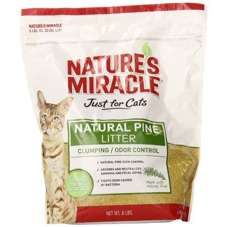 Nature's Miracle Natural Pine Clumping Litter - 8lbs