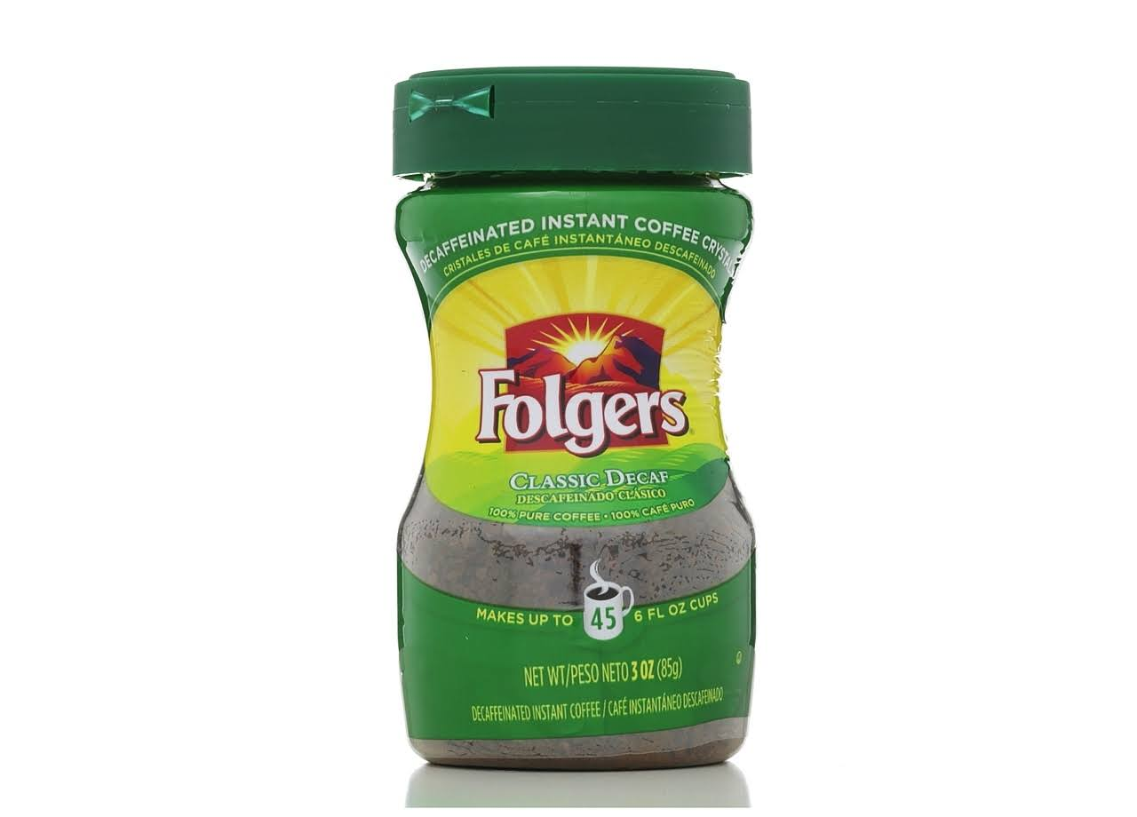 Folgers Decaffeinated Instant Coffee Crystals - 3 oz