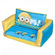 Mickey Mouse Flip Open Sofa Uk by Minions Inflatable Flip Out Sofa Great Kidsbedrooms The