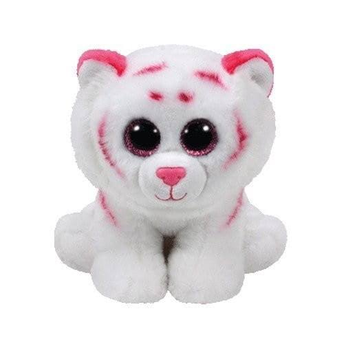 Ty Plush Beanie - Tabor - Pink & White Tiger