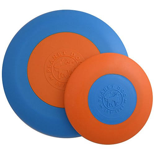 Orbee-Tuff Zoom Flyer Disc Dog Toy - Small - Orange/Blue