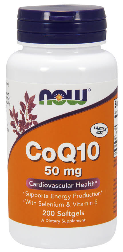 Now Foods Coq10 50mg Dietary Supplement - 200 Softgels