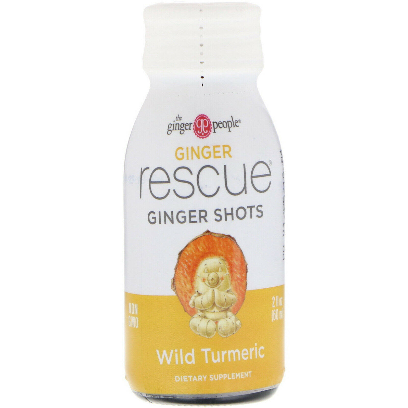 Ginger People Rescue Ginger Shots, Wild Turmeric - 2 fl oz