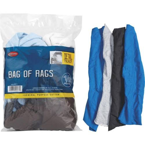Carrand Bag of Cleaning Rags - 1/2lb