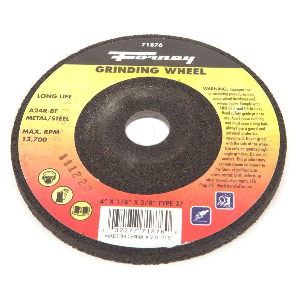 Forney A24R-BF Grinding Wheel