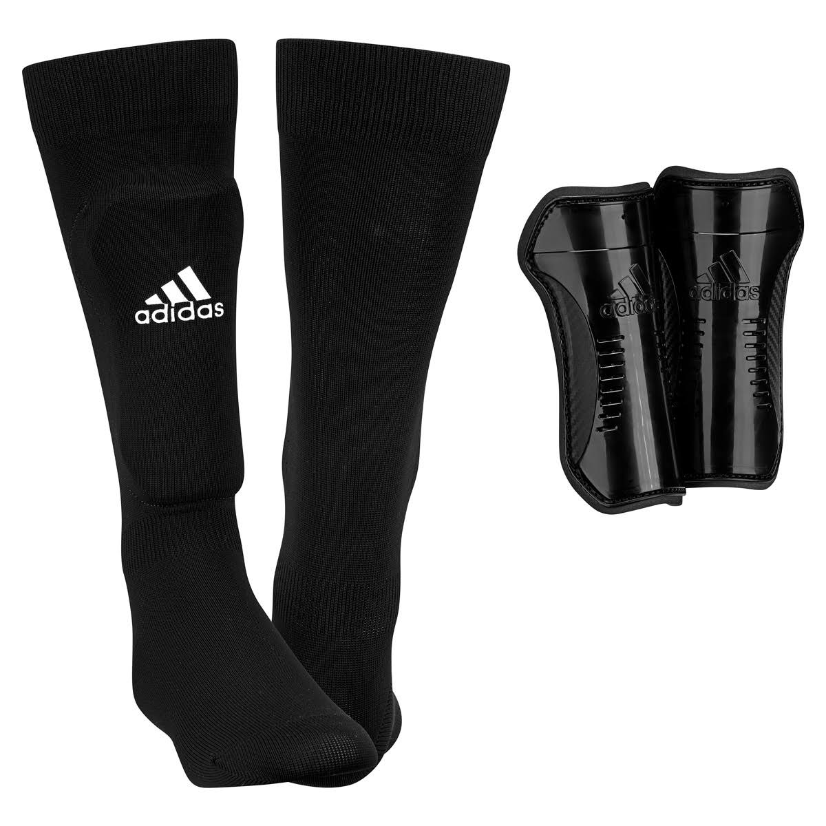 Adidas Youth Soccer Shin Socks - Black
