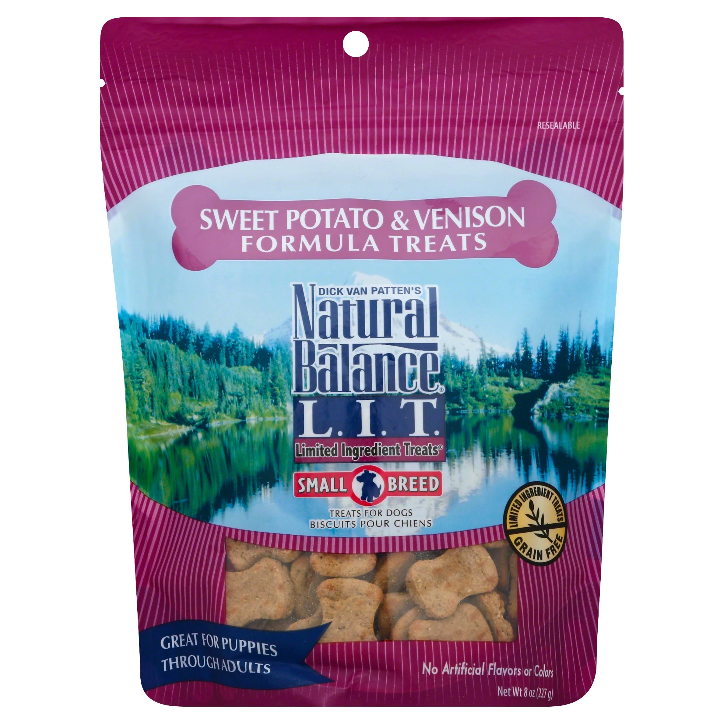 Natural Balance L.I.T. Treats for Dogs, Sweet Potato & Venison Formula, Small Breed - 8 oz