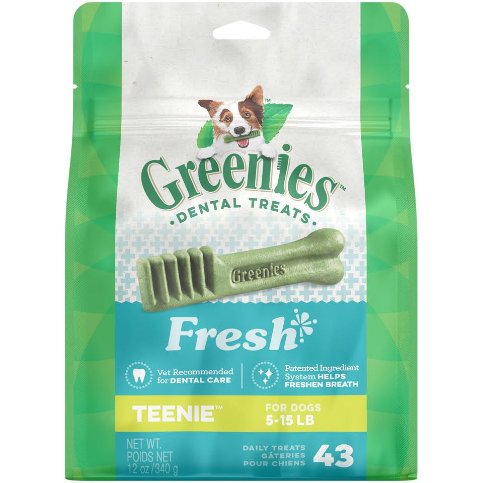 Greenies Dental Chews Teenie Treats for Dogs - Freshmint, 12oz