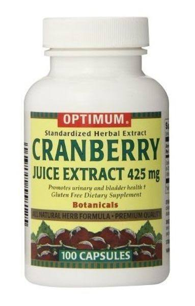 Optimum Tablets Cranberry Juice Extract Supplement - 425mg, 100ct, Pack of 2