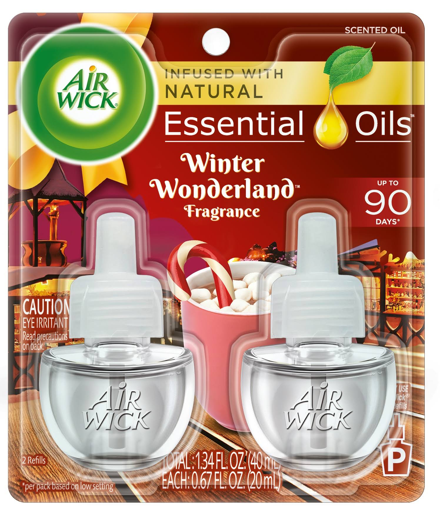 Air Wick Scented Oil 2 Refills, Winter Wonderland, Air Freshener, 0.67 Ounce, 2 Count