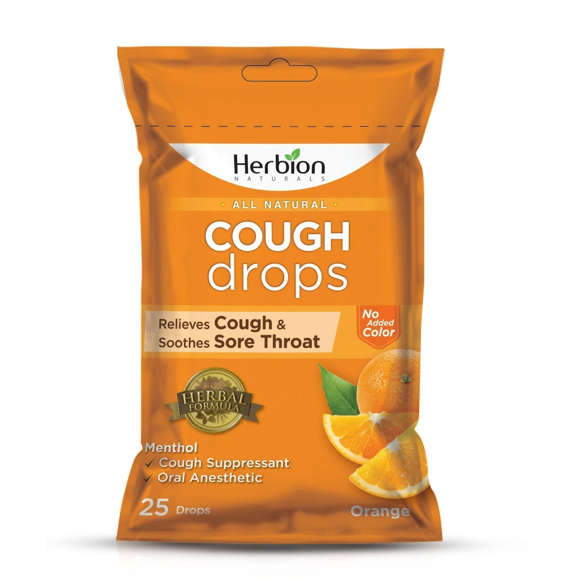Herbion All Natural Cough Drops - Orange, 25ct