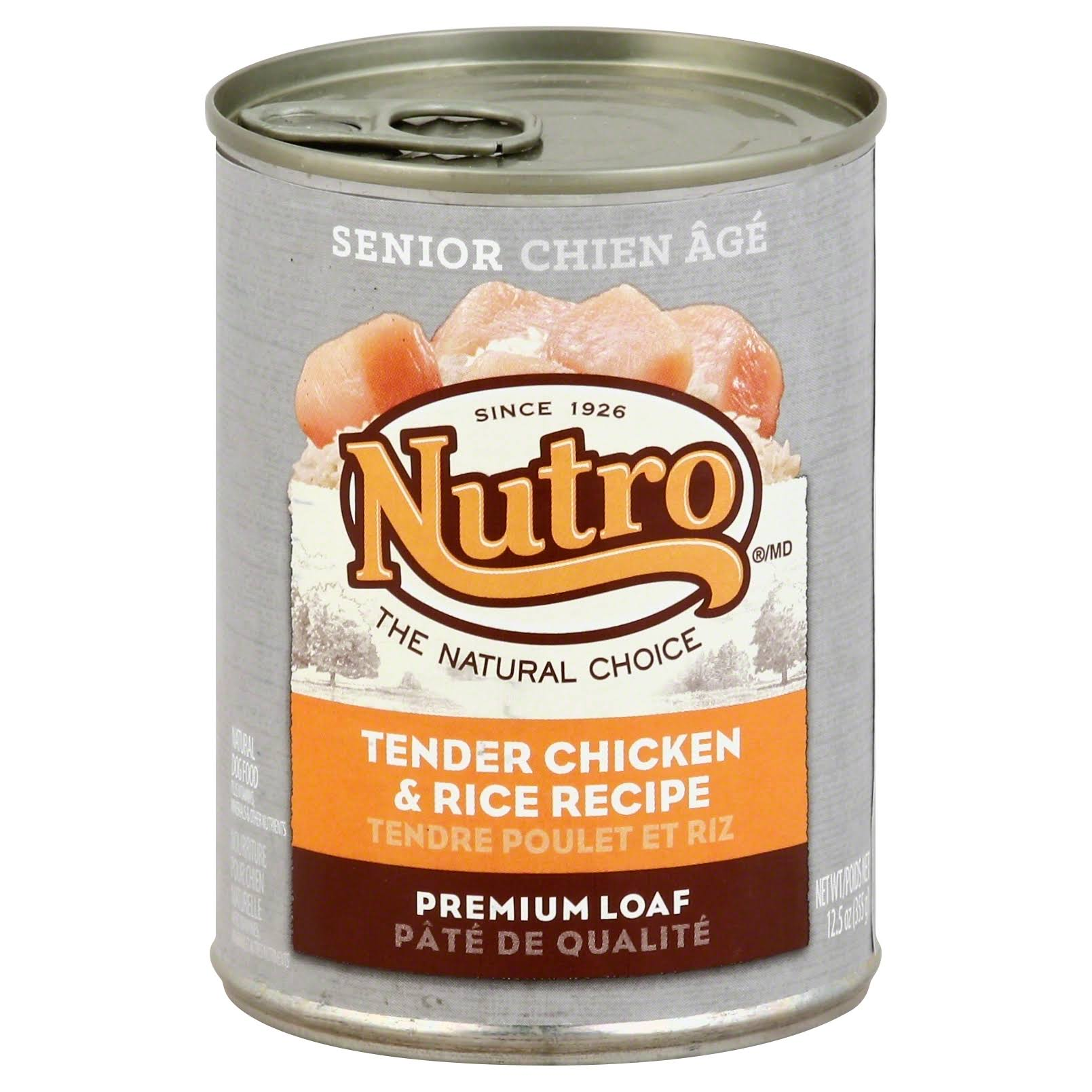 Nutro Natural Choice Senior Dog Food - Tender Chicken & Rice Recipe, 12.5oz