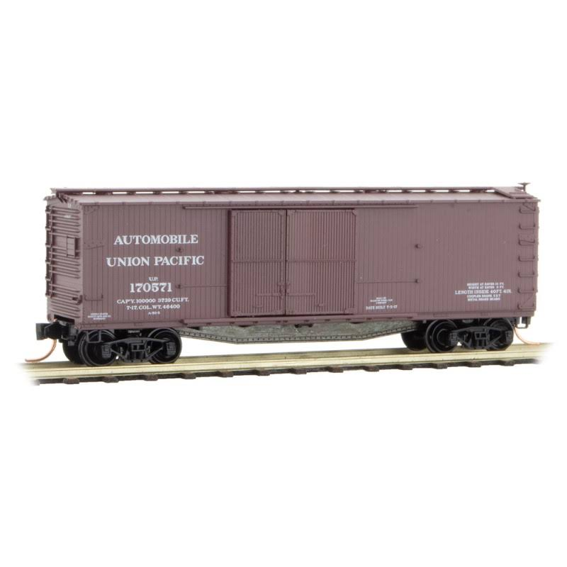 Micro-Trains #04100011 Union Pacific 40' Double-Sheathed Wood Box Car N-Scale