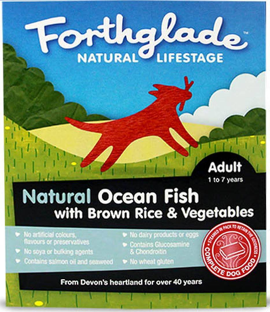 Forthglade Ocean Fish with Brown Rice & Vegetables Complete Meal for Adult Dogs - 395g