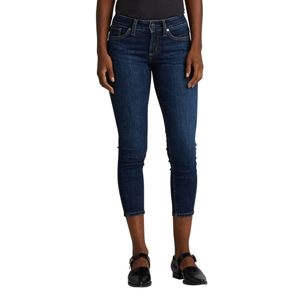 Women's Silver Jeans Suki Mid Rise Skinny Crop