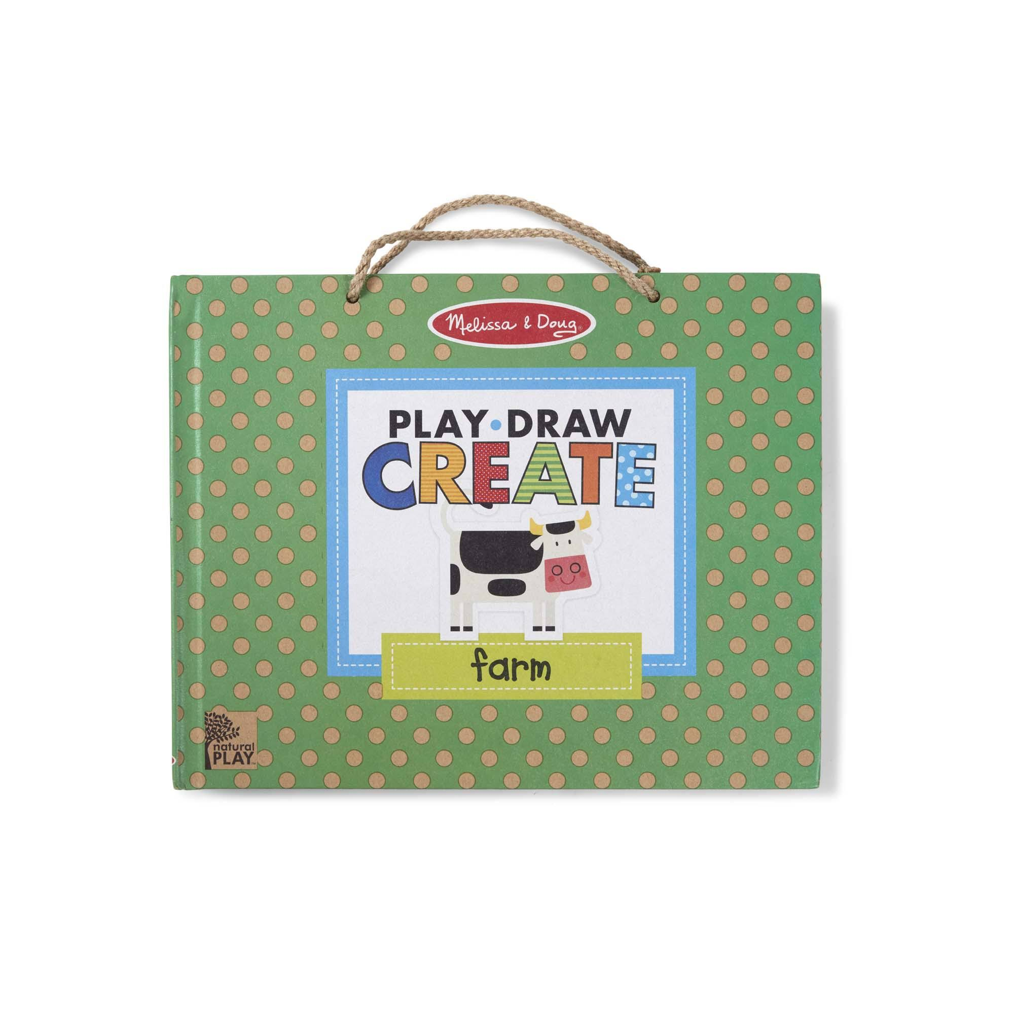 Melissa & Doug | Play, Draw, Create Reusable Drawing & Magnet Kit - Farm