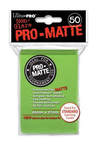 Standard Sleeves - Mat Lime Green, 50 Pack