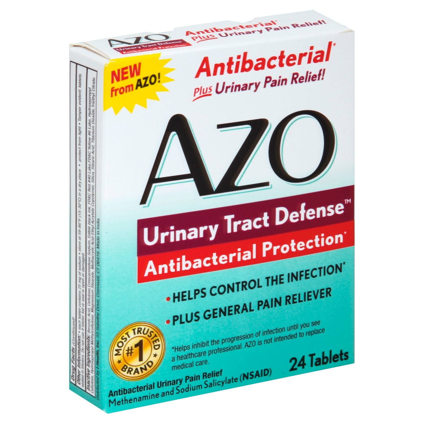 Azo Urinary Tract Defense Antibacterial Urinary Pain Relief Medicine - 24ct