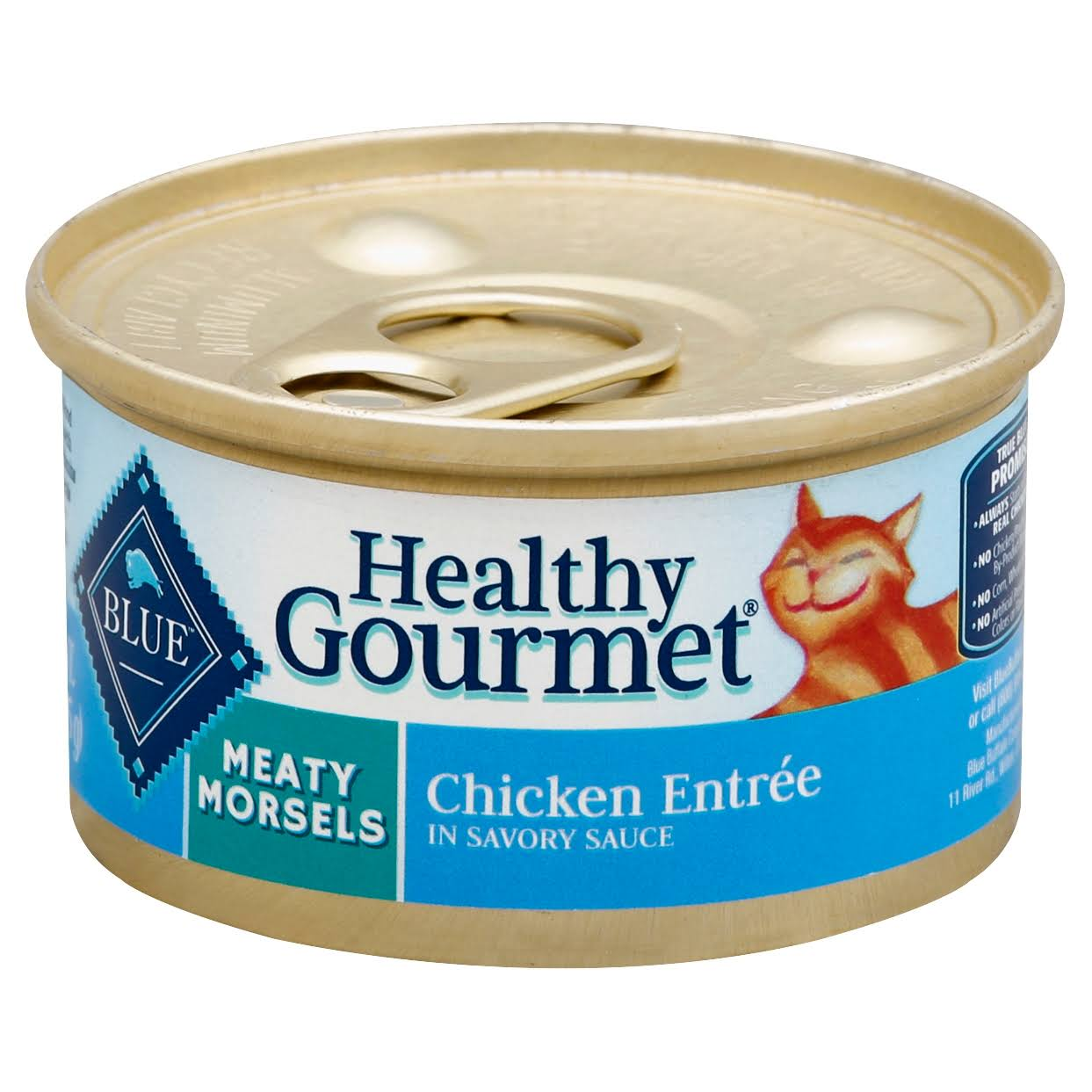 Blue Buffalo Healthy Gourmet Meaty Morsels Cat Food - Chicken Entree In Savory Sauce