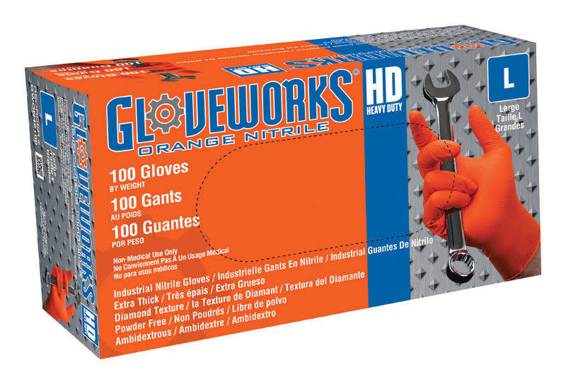 Ammex Gloveworks Nitrile Industrial Gloves